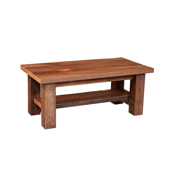 Almanzo Coffee Table with Shelf LO RES