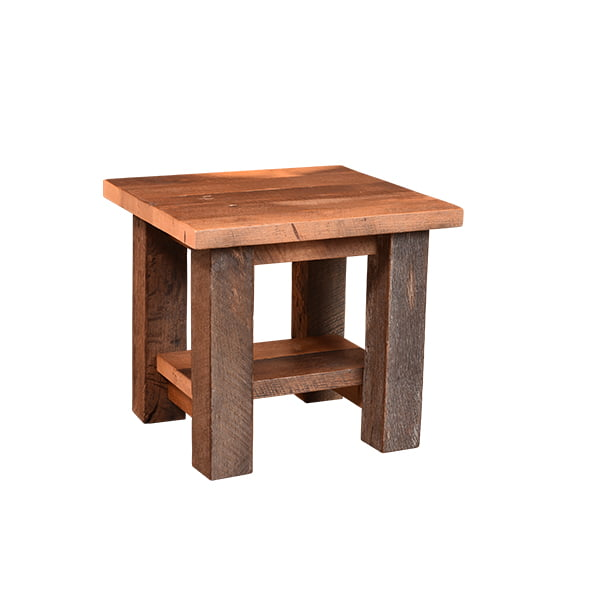Almanzo End Table with Shelf LO RES