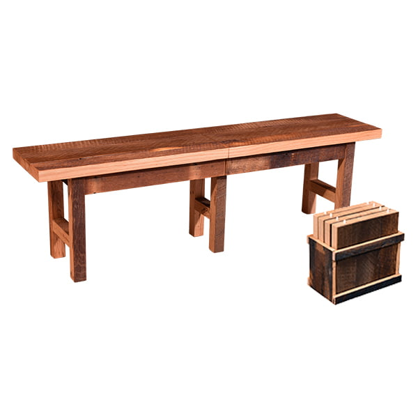 Extend a Bench LO with Storage by Urban Barnwood