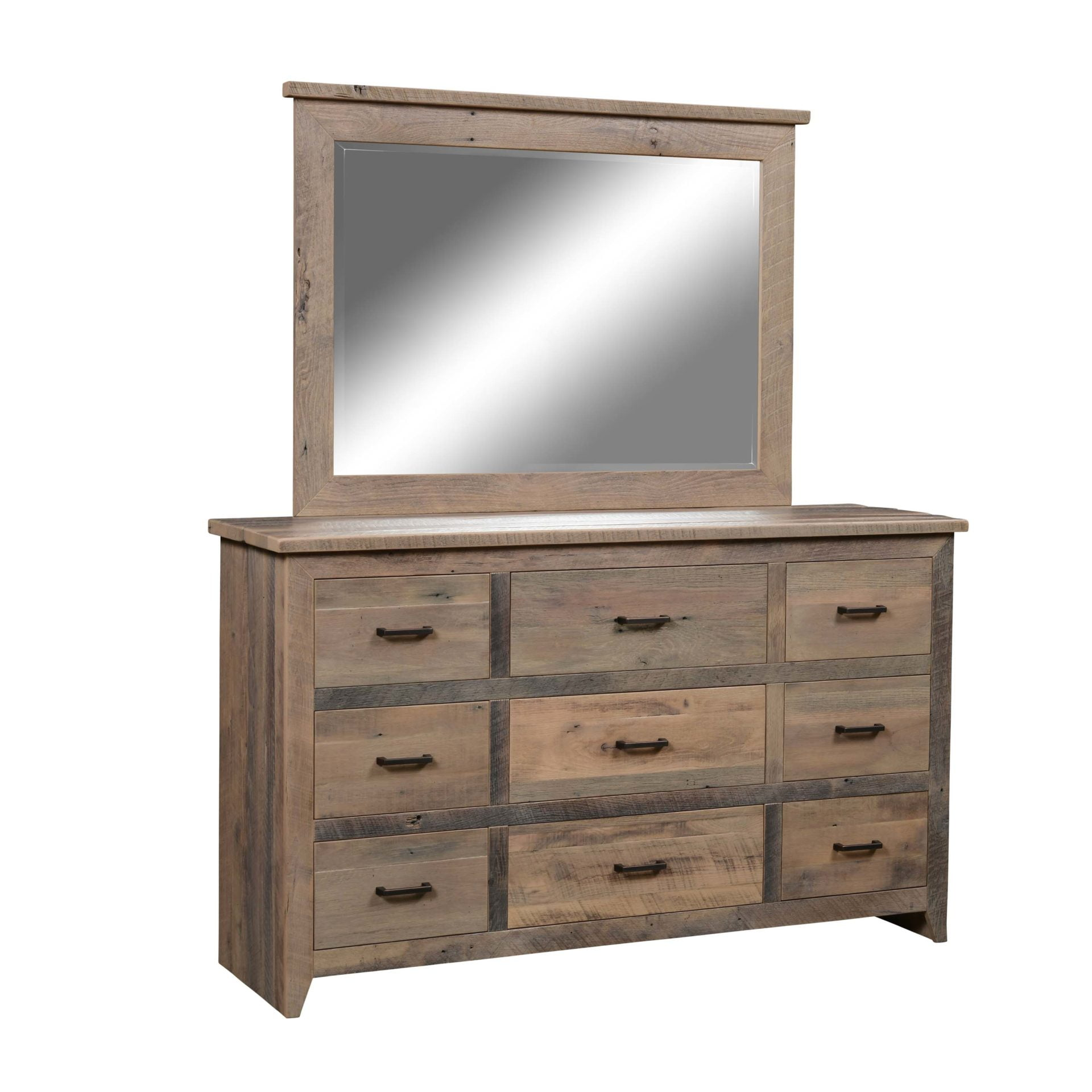 Midland 9 Drawer Dresser with Mirror LO RES