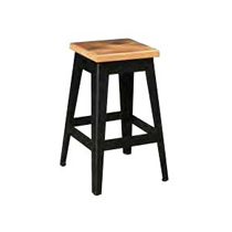Newport Bar Stool with Black Metal Base by Urban Barnwood 1