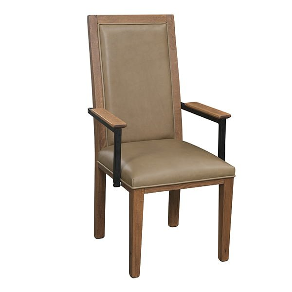 1869 arm chair front view